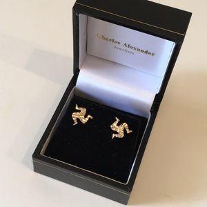 Isle of Man 14k earrings
